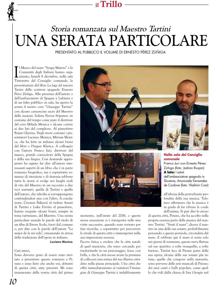 Prsentación en Pirano Revista el Trillo 1
